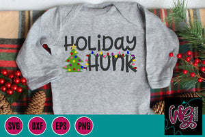 Holiday Hunk Christmas Cut File