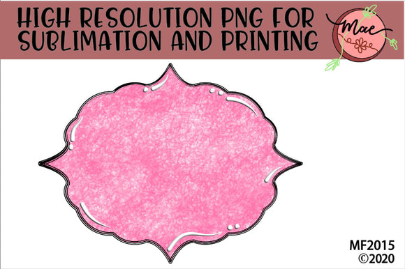 Pink Sublimation Frame Background