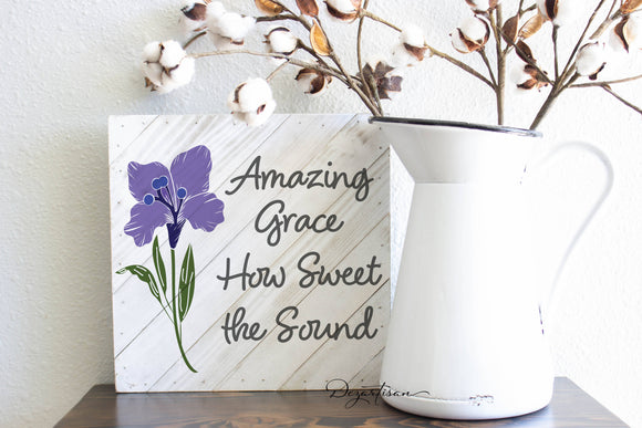 Amazing Grace SVG | DXF Premium Cut File for Cricut & Silhouette Machines