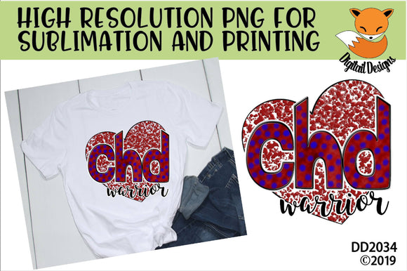 CHD Warrior Awareness Sublimation Design