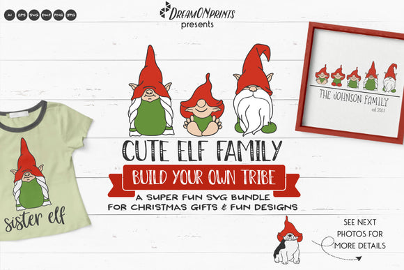 Elf Family SVG Bundle | Build Your Own Tribe