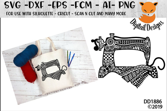 Zentangle Sewing Machine SVG