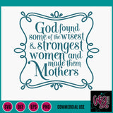 God Made Mothers Cut File WG742