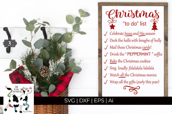Christmas To Do List SVG Cut File