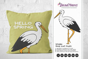 Stork SVG Cut File - Spring SVG, Birds, New Born SVG