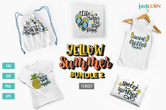 Yellow Summer Bundle 2 SVG Designs