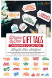 Draw and Cut Christmas Gift Tags