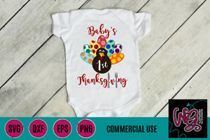 Baby's First Thanksgiving Cut File WG386
