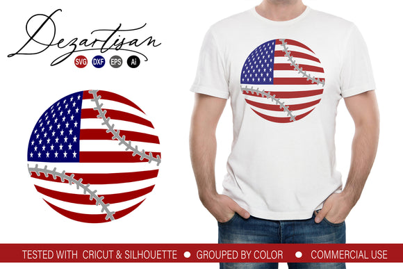 American Flag Baseball Svg Dxf Cut File Svg Font Market