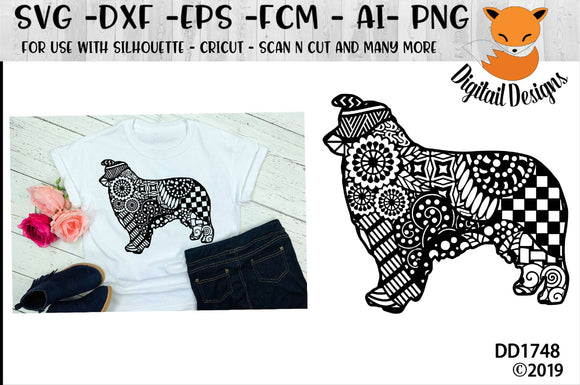 Zentangle Australian Shepherd SVG