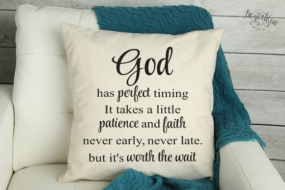 God has perfect timing SVG Cut File