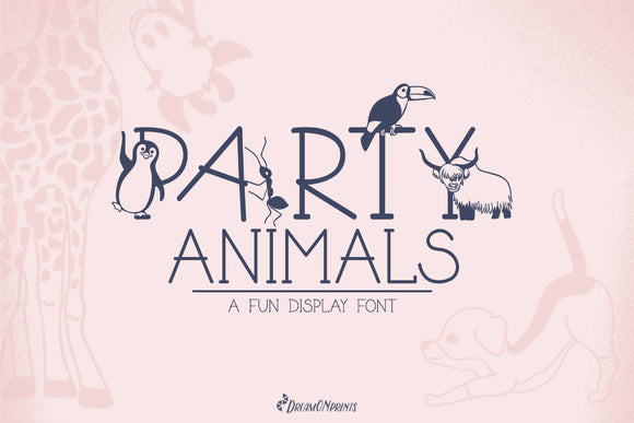 Party Animals - A Fun Display Font