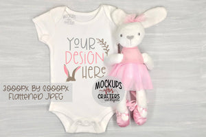 BABY BODYSUIT, BABY ONE PIECE, Mock-Up, Easter Theme