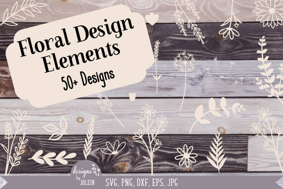 Floral Elements Design Bundle