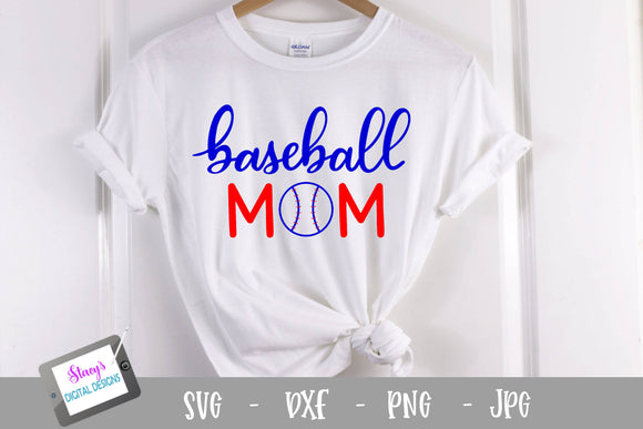 Baseball SVG - Baseball Mom SVG - Handlettered