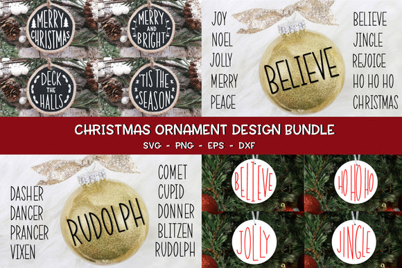 Christmas Ornament Design Bundle - Christmas SVG Bundle