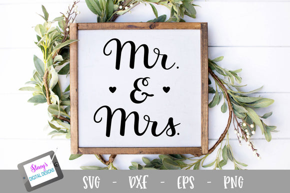 Mr. and Mrs. SVG - Handlettered