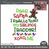 WG121 Dear Santa I Tried Siblings
