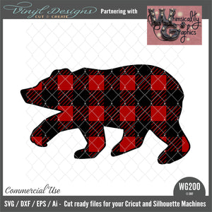 WG200 Bear Buffalo Plaid