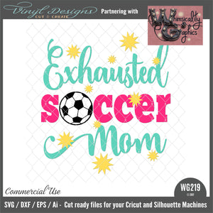 WG219 Exhausted Soccer Mom