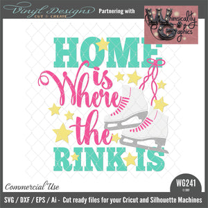WG241 home is Where the Rink Is Ice Skates