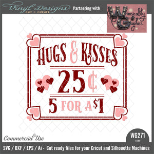 WG271 Hugs and Kisses 25 Cents