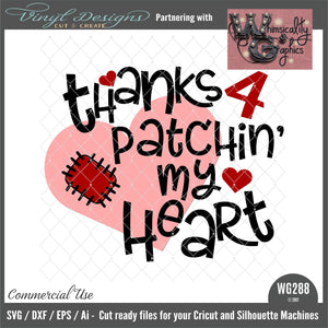 WG288 Thanks for Patchin' My Heart