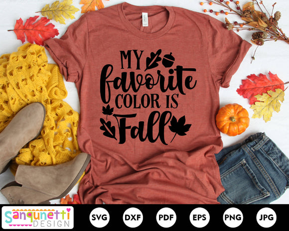 My favorite color is fall svg, autumn svg, fall quote svg