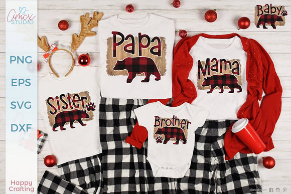 Bear Family Sublimation Design