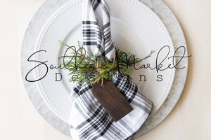 NAPKIN RING WOOD TAG DIGITAL MOCK UP STOCK PHOTOGRAPHY