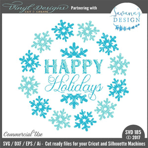 Happy Holidays Cut File