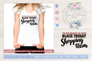 Black Friday Shopping Team SVG Cut File