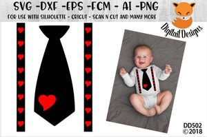 Valentine Tie and Suspenders