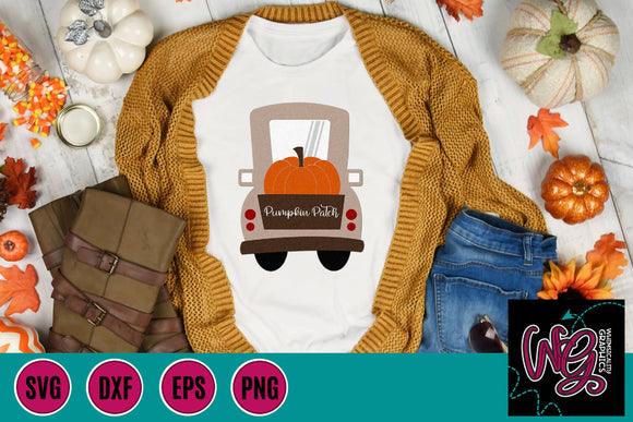 Pumpkin Patch Whimsy Truck Cut File