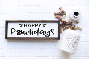 Happy Pawlidays SVG | DXF Premium Cut File for Cricut & Silhouette Machines