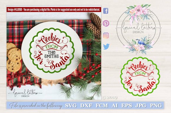 Cookies For Santa SVG Cut File