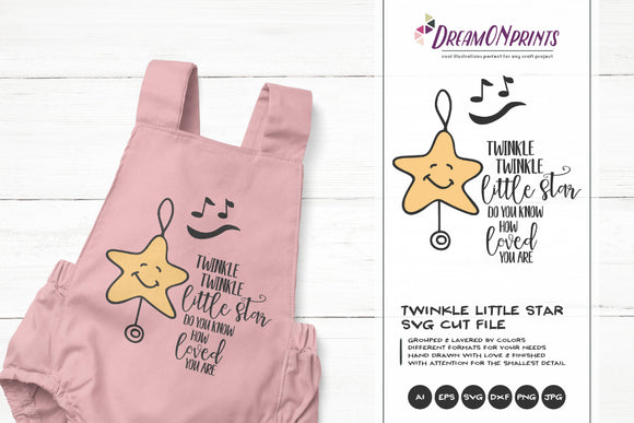 Twinkle Twinkle Little Star SVG Cut File