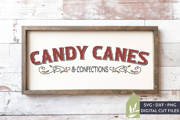Candy Canes & Confections SVG, Christmas Sign SVG