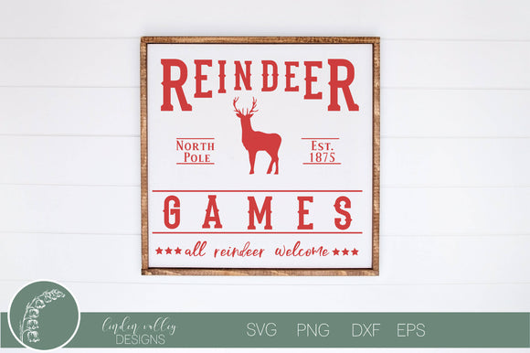 Reindeer Games Christmas SVG