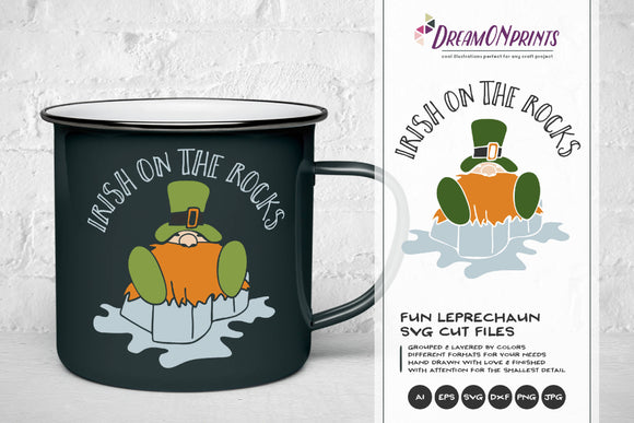 Fun Leprechaun SVG - Irish on the Rocks SVG