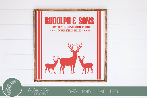 Rudolph and Sons Christmas SVG