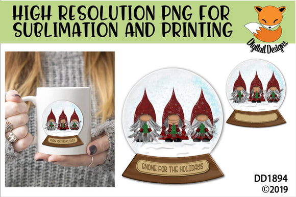 School Bus Driver Snow Globe Sublimation PNG