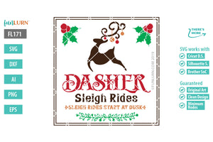 Dasher Sleigh Rides Cut File