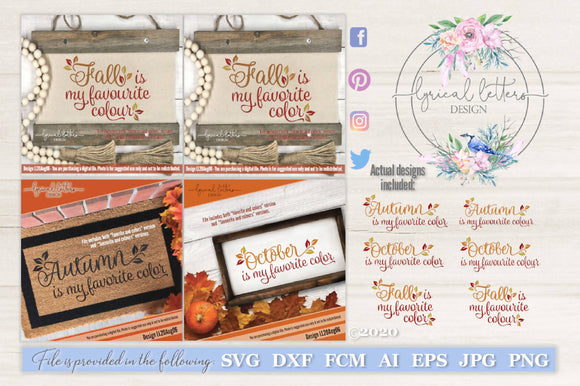 October Fall Autumn Is My Favorite Color Svg Cut File Svg Font Market