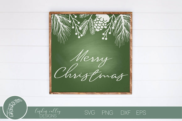 Winter Border Merry Christmas SVG