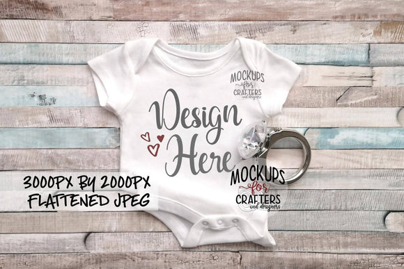 BABY Bodysuit Mock-Up, Proposal, Love