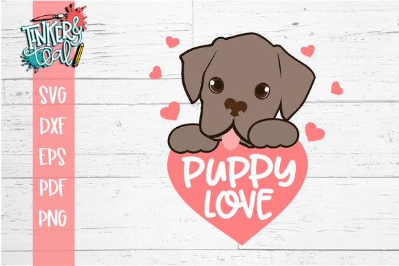 Puppy Love Valentine SVG
