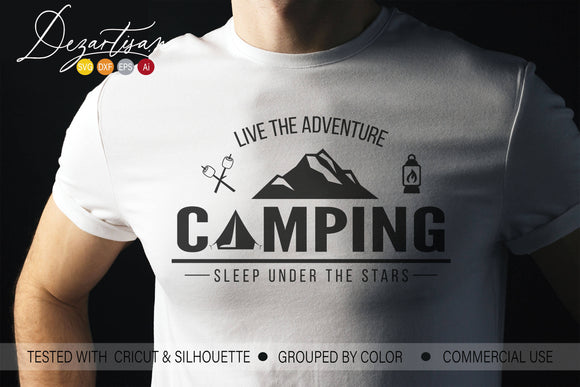 Live the Adventure Camping SVG | DXF Cut File