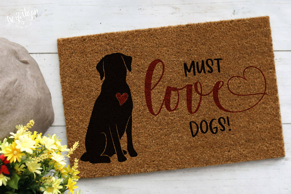 Must Love Dogs SVG | DXF Premium Cut File for Cricut & Silhouette Machines