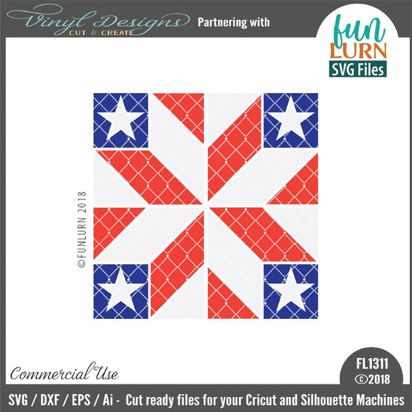 Rising Star barn quilt pattern Cut File